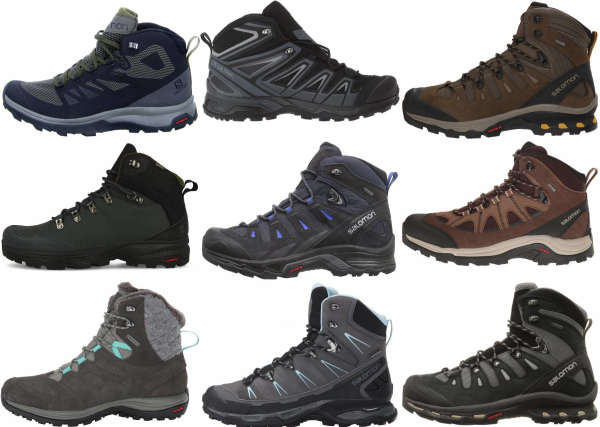 buy salomon gore-tex hiking boots for men and women