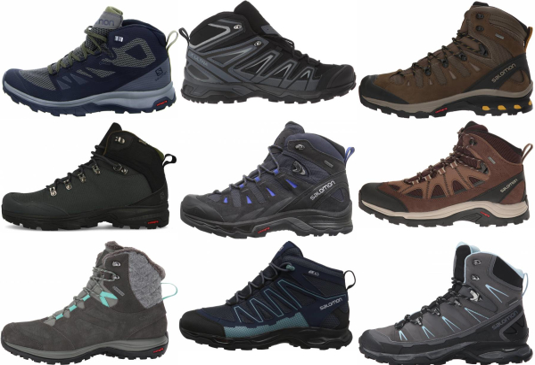 buy salomon waterproof hiking boots for men and women