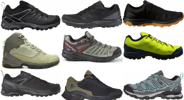 buy salomon waterproof hiking shoes for men and women
