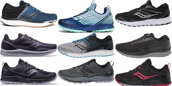 buy saucony cushioned running shoes for men and women