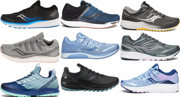 buy saucony long distance running shoes for men and women