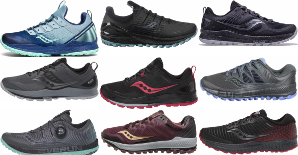 buy saucony trail running shoes for men and women