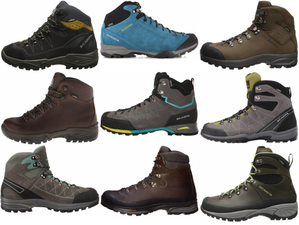 buy scarpa leather hiking boots for men and women