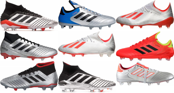 buy silver adidas soccer cleats for men and women
