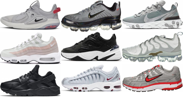 buy silver nike sneakers for men and women