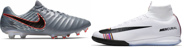 buy silver nike soccer cleats for men and women