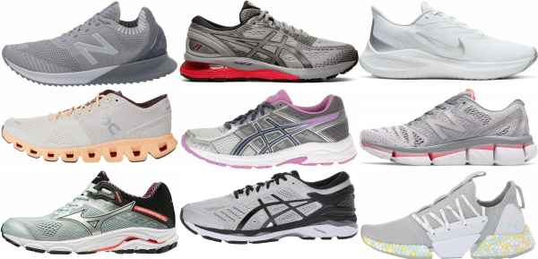 buy silver running shoes for men and women