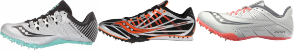 buy silver saucony track & field shoes for men and women