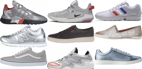 buy silver sneakers for men and women