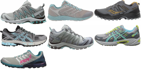 buy silver trail running shoes for men and women