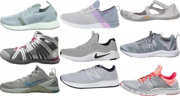 buy silver training shoes for men and women