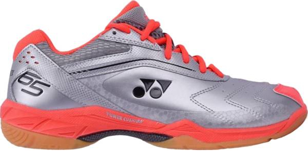 buy silver wide badminton shoes for men and women