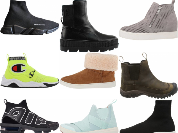 buy slip-on high top sneakers for men and women