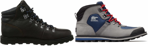 buy sorel  leather hiking boots for men and women