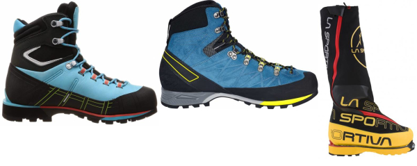 buy strap-on crampon compatible mountaineering boots for men and women
