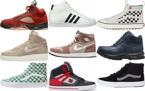 buy suede high top sneakers for men and women