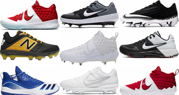 buy synthetic leather  baseball cleats for men and women