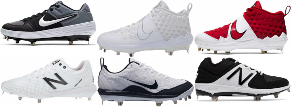 buy synthetic leather  metal baseball cleats for men and women