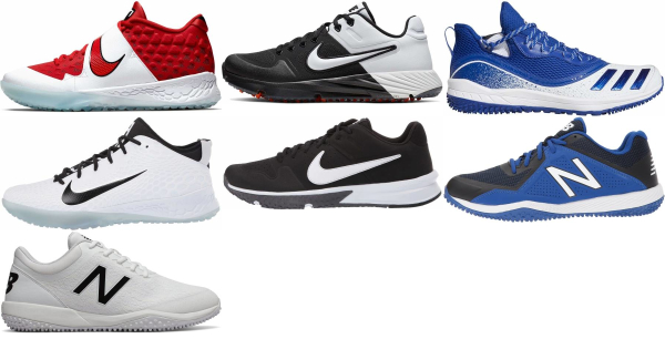 buy synthetic leather  turf/ trainer baseball cleats for men and women