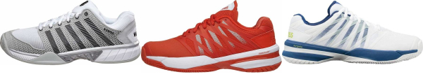 buy synthetic/mesh upper k-swiss tennis shoes for men and women