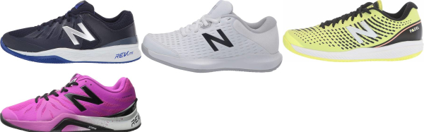 buy synthetic/mesh upper new balance tennis shoes for men and women