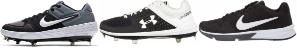 buy textile black baseball cleats for men and women