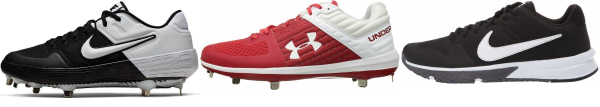 buy textile red baseball cleats for men and women