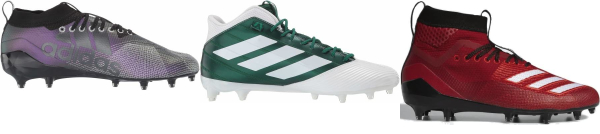 buy textile/mesh football cleats for men and women