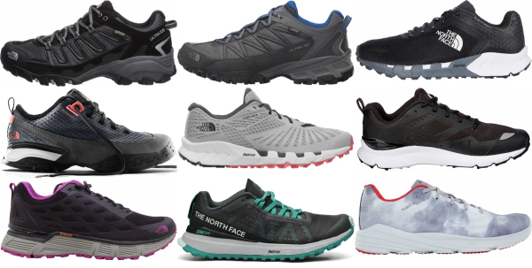 buy the north face trail running shoes for men and women