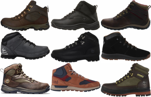 buy timberland leather hiking boots for men and women