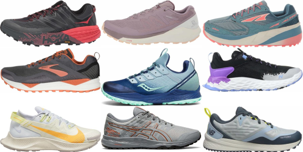 buy trail cushioned running shoes for men and women