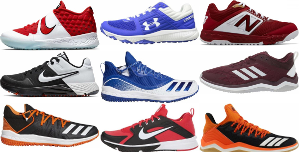 buy turf/ trainer lace-up baseball cleats for men and women