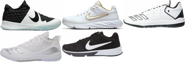 buy turf/ trainer white baseball cleats for men and women