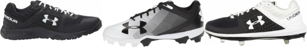 buy under armour black baseball cleats for men and women