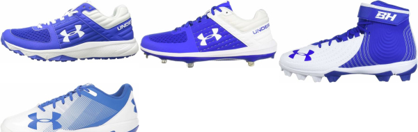 buy under armour blue baseball cleats for men and women