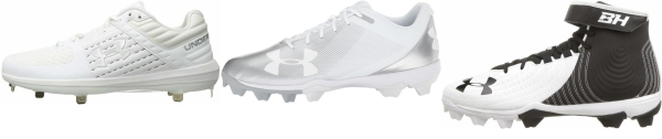 buy under armour white baseball cleats for men and women