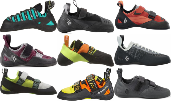 buy up to 1/2 size stretch climbing shoes for men and women