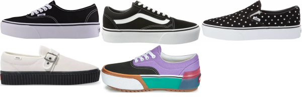 buy vans platform sneakers for men and women