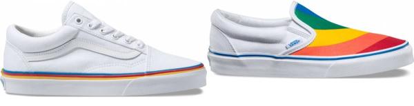 buy vans rainbow sneakers for men and women