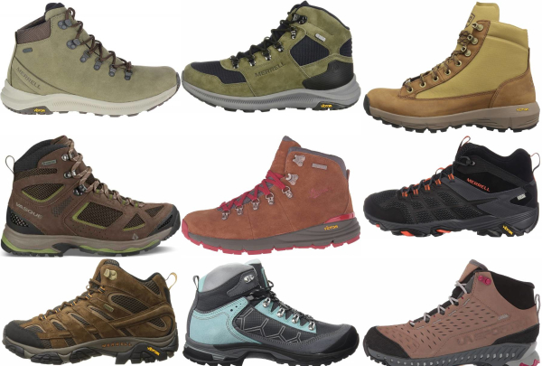 buy vibram sole hiking boots for men and women