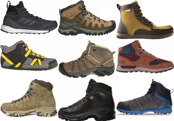 buy water repellent mid cut hiking boots for men and women