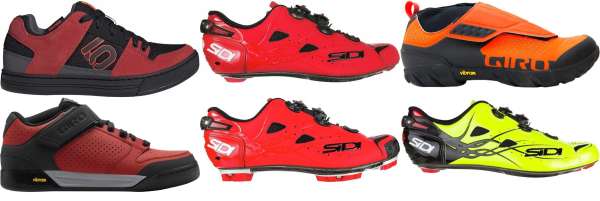 buy water-resistant red cycling shoes for men and women