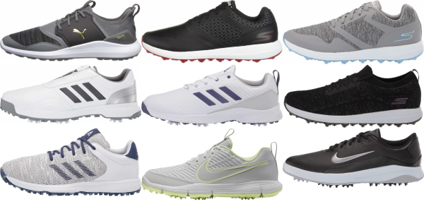 buy water-resistant synthetic upper golf shoes for men and women
