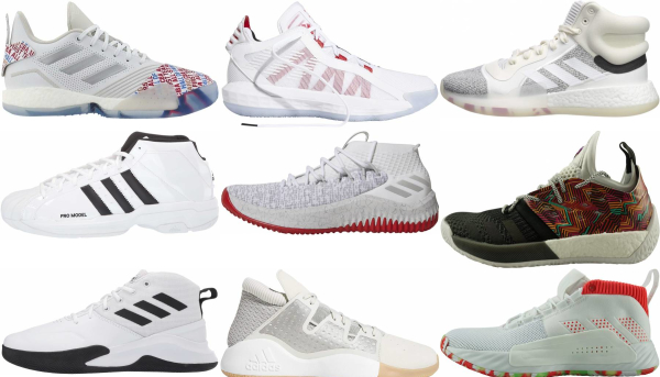buy white adidas basketball shoes for men and women