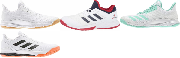 buy white adidas bounce volleyball shoes for men and women