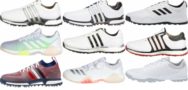 buy white adidas golf shoes for men and women