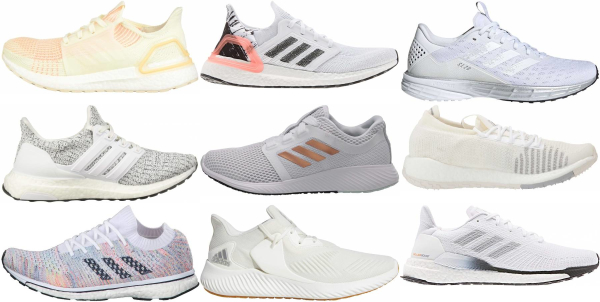 buy white adidas running shoes for men and women