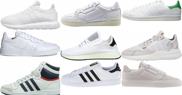 Fanático Eclipse solar Consejo  Save 52% on White Adidas Sneakers (195 Models in Stock) | RunRepeat