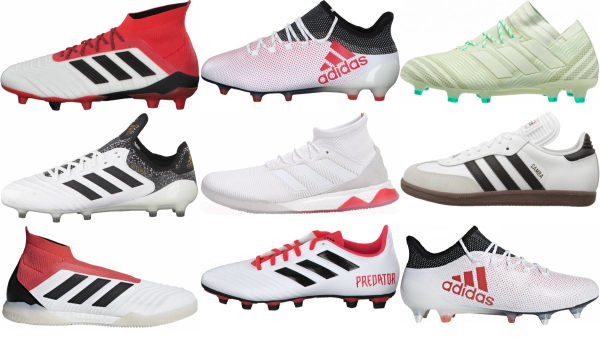buy white adidas soccer cleats for men and women