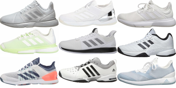 buy white adidas tennis shoes for men and women